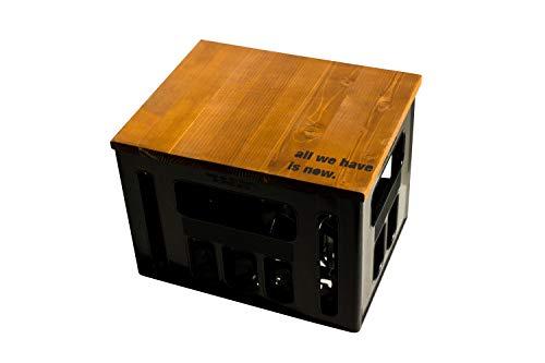 ultiMade Bierkastensitz Holz Sitzauflage für Bierkiste Geschenkidee Geschenk für Männer Biergeschenk Hocker Holz: NOW