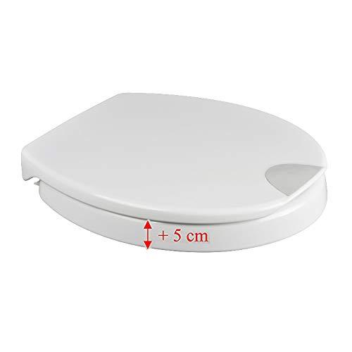 Rehausseur pour siège WC Novara Plus (5 cm) avec...