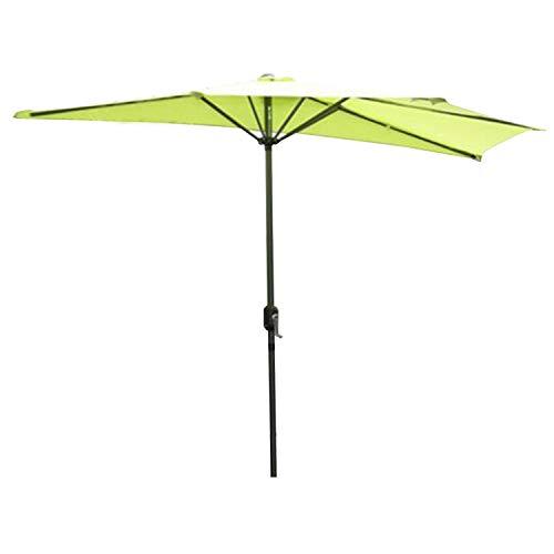 Angel Living 270 cm Semi - Parasol de Jardin, Résistant aux UV 50+, Demie Rond Ombrelle Contre Le Mur idéal pour Balcon, Terrasse, Jardin (Pomme Verte)