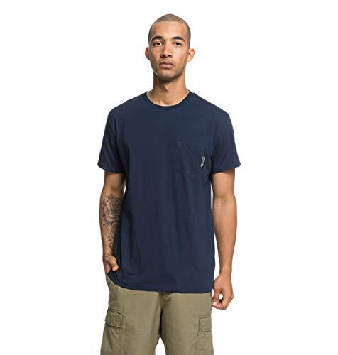DC Shoes Basic T-Shirt avec Poche Homme Black Iris FR : S (Taille Fabricant : S)