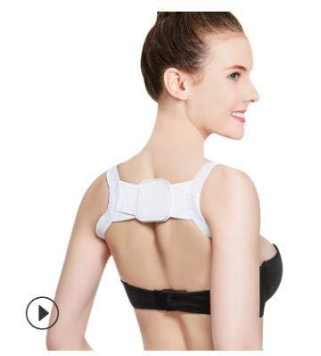 L-YINGZON Soporte de Espalda HANRIVER corrección de la cifosis con la Mejora de JiaoZi Joroba Posterior ventilación Postura Correcta (Color : White)