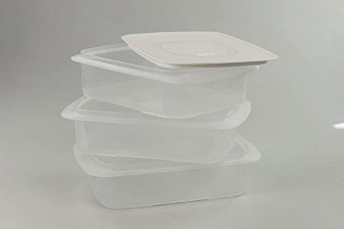 TUPPERWARE Cool`N Fresh 1,5L (3) container + airco deksel wit Coolsmart stapelprofi