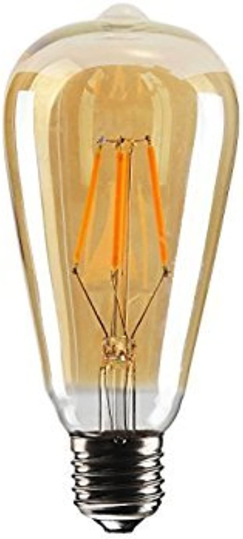 LED Vintage Glühlampe Antike Retro Glühlampe mit Filament Squirrel Cage ST64, E27, 4W, E27 4.00W 220.00V