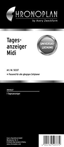 Chronoplan 50337 Tagesanzeiger für Terminplaner Midi (76x175 mm, 1 Kalender-Lesezeichen mit Universallochung, zur Unterteilung und besseren Übersicht, für viele Organizer, als Lineal verwendbar)