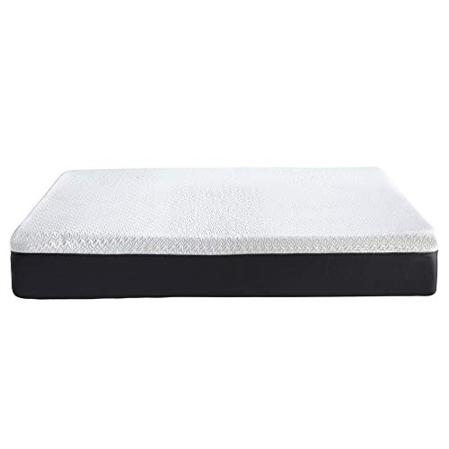 Classic Brands Cool Gel and Ventilated Memory Foam 12-Inch Mattress CertiPUR-US Certified, Queen, White
