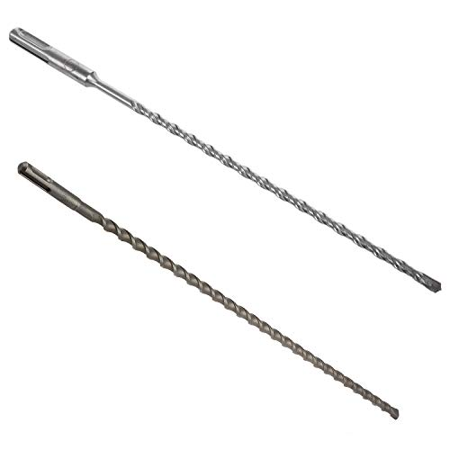 Lopbinte 1Pcs SDS Plus Hammer Drills Concrete Drills Cross-Cut Four-Cutting 6x260Mm & 1Pcs 50Cm 500Mm SDS+ Plus 10Mm Hammer Masonry Drill Bit SDS Long (20 x 3/8 Inch)