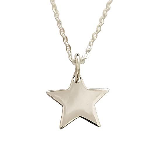Sicuore Collar Colgante Estrella para Mujer Hombre - Plata De Ley 925 Incluye Cadena 45cm Y Estuche para Regalo
