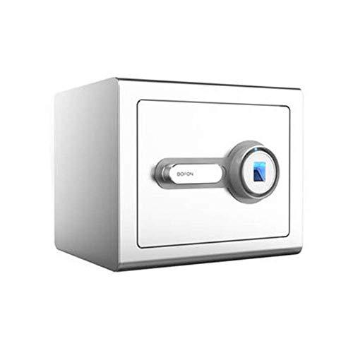 N/Z Living Equipment Safe Home Office Fingerabdruck-Safes Alle Stahl-Anti-Diebstahl-Safes Hien Wall in Closet Kleiner Nachttisch Safe Schließfach Bright Silver Household Safe Zifferntastatur-Safe