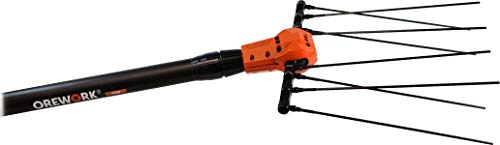 Jolly Italia Vareadora eléctrica V50 Mango telescópico, Negro, Naranja