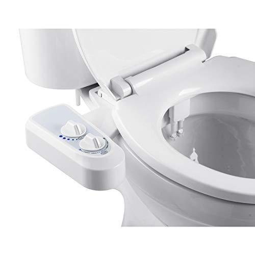 Ketamyy Bidet M/écanique pour Toilettes Assis Butt Cleaner Jet deau Froide Unique Buse Non /électrique Pulv/érisation Autonettoyante avec Contr/ôle de Pression D/étachable WC Insert de Bidet