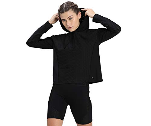 PUMA Damen Train Flawless Pullover Hoodie T-shirt, Black, XL
