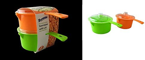 Set of 2 Microwave Saucepan With Lid Store Heat and Eat 800ml each product image