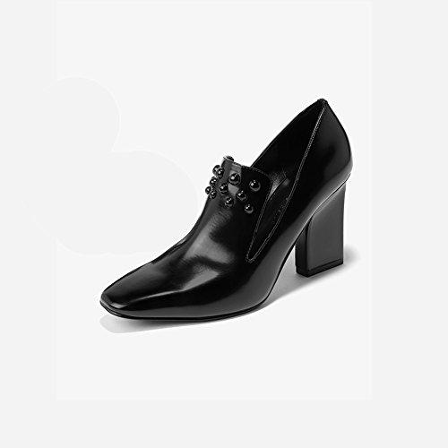 XUERUI Verspielte Punkte verzierten Comfort Square Heels Pumps (größe : EU36/UK3.5/CN35)