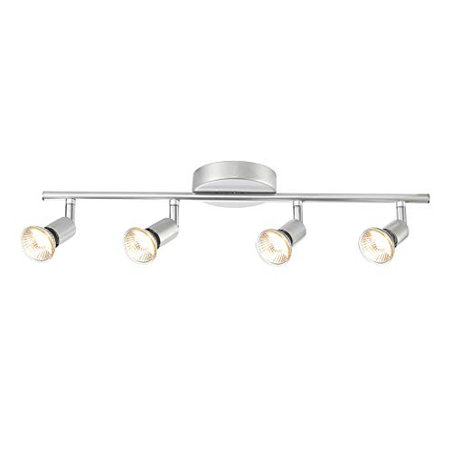 Globe Electric - Tira de luz, 4 luces, 0, Brushed Silver