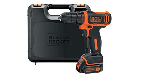 Black+Decker Li-Ion Ultra-Kompakt-Bohrer BDCDD12K – Kleiner Akkuschrauber mit ergonomischem Softgriff & LED-Arbeitslicht für Bohr- und Schraubanwendungen – 1 x Akku-Bohrschrauber Li-Ion 10.8 V