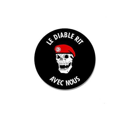 Autocollant Le Diable Rit Avec Nous Legion étrangère 7 cm #A4766