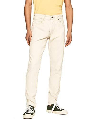 Pepe Jeans Callen Crop Jeans, Blanco (Denim 000), 34W/LOL para Hombre