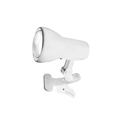 Lampo Spot E27 A pinza orientable con interruptor pasacables y cable con enchufe máx. 60 W – blanco