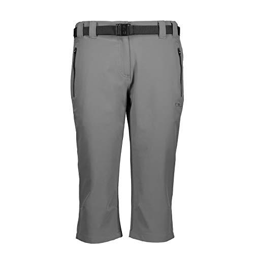 CMP Damen Pantaloni Capri Stretch Hose, grau, D38