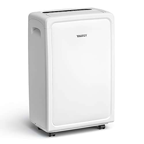 Yaufey 4500 Sq. Ft Home Dehumidifier for Basement and Extra Large Rooms, 70 pints Dehumidifier with Drain Hose, Water Tank and Reusable Air Filter