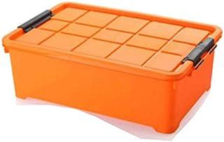 Lpiotyucwh Paniers et Boîtes De Rangement, Boîte de rangement de grande capacité, boîte de rangement en plastique avec cou...