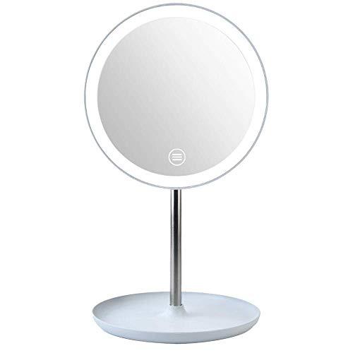 Miroir de Maquillage avec LED lumière du Jour Touch Touch Control Rotation Miroir de Voyage pour Salon Miroir d'anniversaire