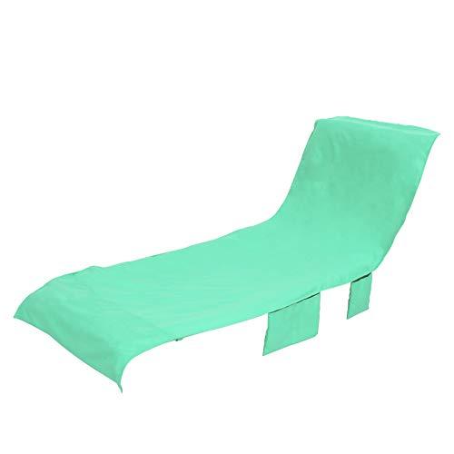 UTDKLPBXAQ Strandstuhlbezug Handtuch,Swimmingpool Chaise Lounge Mikrofaser Liegebezug saugfähig schnelltrocknend mit Taschen rutschfest für Outdoor Patio Garden Outdoor