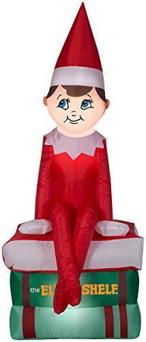 Elf on the Shelf Gemmy Christmas Inflatable 5.5 w/Books | Airblown Inflatable