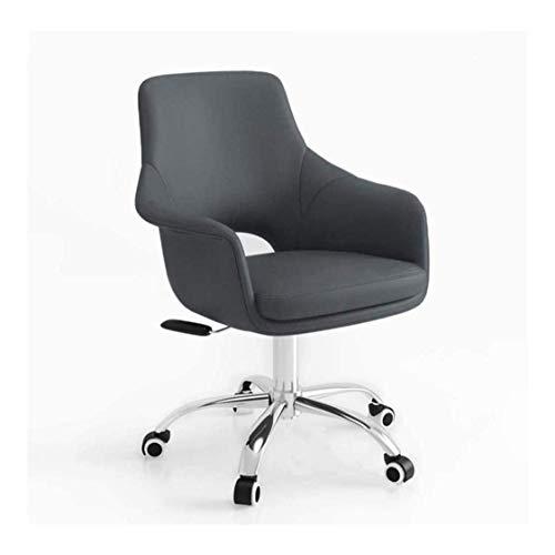 FENXIXI Silla de escritorio ajustable con ruedas giratorias, silla de aprendizaje, silla de oficina, silla de juegos, silla elevadora (color gris)