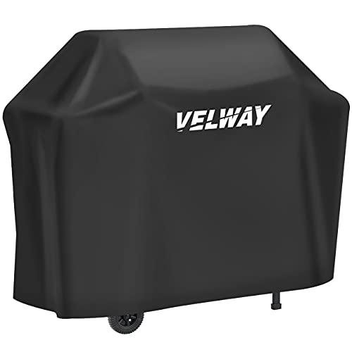 Velway Funda para Barbacoa Impermeable, Cubierta BBQ de Parrilla 210D Oxford Protector, Anti-Viento/Anti-Polvo/Anti-Humedad, Resistente al...