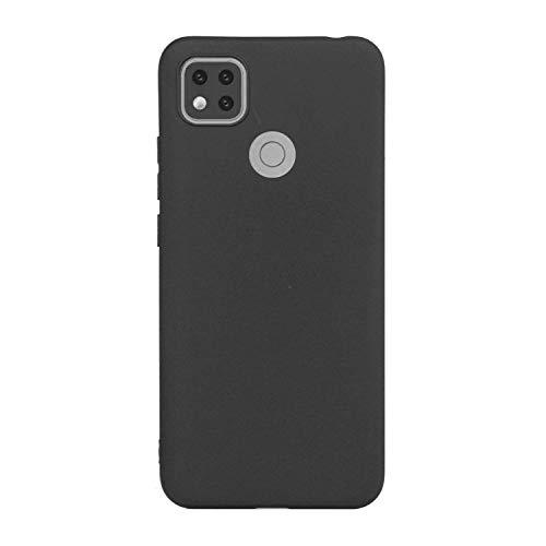 cuzz Custodia Xiaomi Redmi 9C+{Film di Vetro temperato}Silicone TPU Cover Morbida Protettiva Custodia Ultra Sottile Leggero Cover-Nero