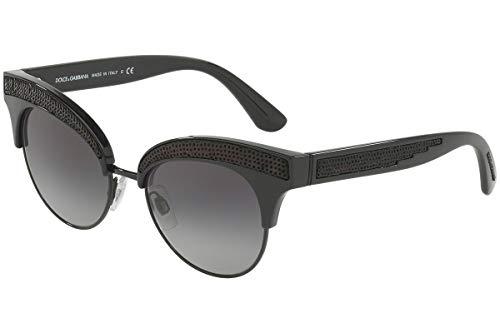 Dolce & Gabbana DG6109 gafas de sol de bronce de cañón w / 50mm de lente gris degradado 5018G DG 6109 mujer Negro 50-18-140