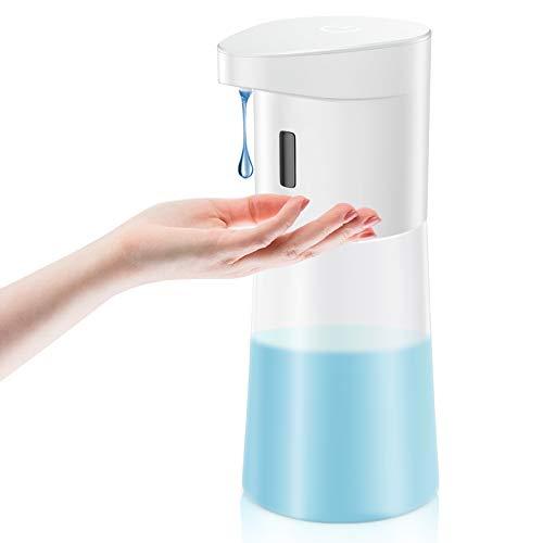 Rokurokuroku Dispenser Sapone Automatico, 500ml Dosatori per Sapone Liquido con Sensore Intelligente Erogatore Sapone Touchless per Bagno, Cucina, Sala da Pranzo e Ufficio