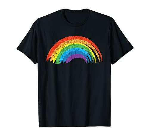 Vintage Retro Regenbogen T-Shirt – Klassisches Used-Design T-Shirt