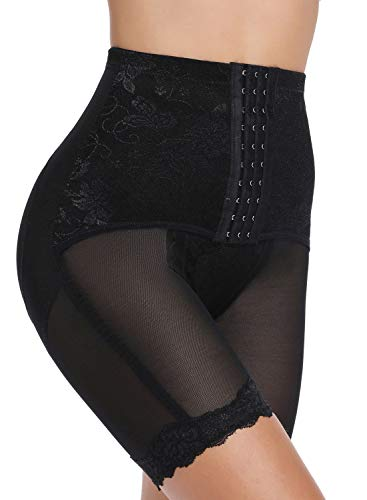 SLIMBELLE Donna Modellante Vita Alta Guaina Intimo Shapewear Mutande Contenitiva Slip Contenitive Pancia Pancera da Dimagrante Shaper Up Snellente per Push-Black-2XL