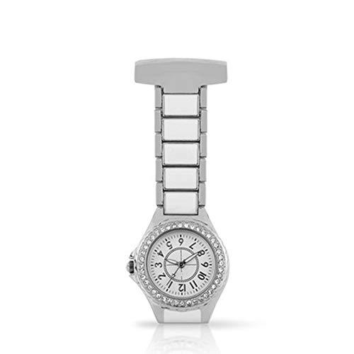 Reloj Paramédico Regalo del día de la enfermera reloj de la pared del reloj del pecho Reloj de mujer médico enfermera del reloj del Rhinestone de la enfermera de cerámica reloj de bolsillo de la enfer