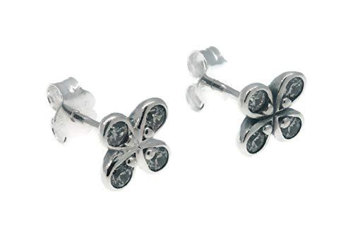 Pandora Pendientes de botón Mujer plata - 297968CZ