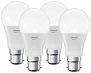 LEDVANCE Smart Led Lamp With Bluetooth, B22D, Light Color Changeable (2700-6500 k), Rgb Colors Changeable, Replaces Incand...