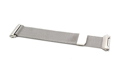 vhbw Ersatz Armband 23.5cm Magnetverschluss passend für Fitbit Ionic Fitness Uhr, Smart Watch - Edelstahl Silber