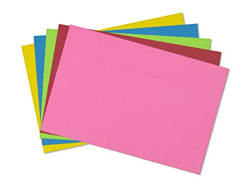 6X9 Envelope Color Blank Open Side-Greeting Card Invitation Envelopes-25 Pack (Mixed Pack)