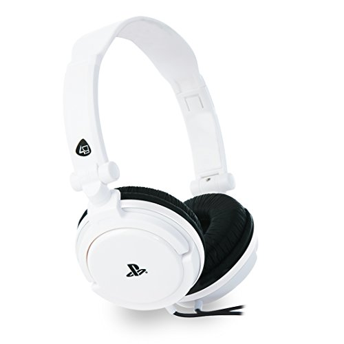 4Gamers 4G-4887WHT Cuffie Gaming Stereo, Bianco
