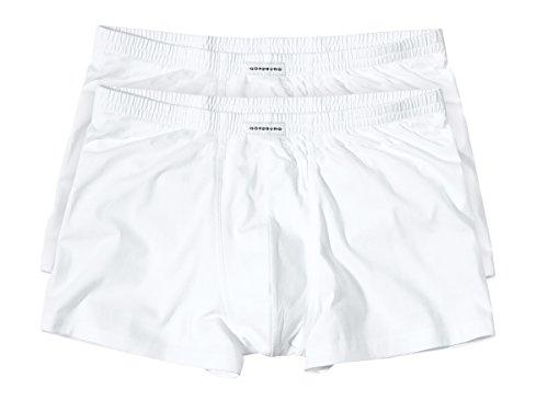Götzburg Herren Pants, Baumwolle, Single Jersey, weiß, Uni, 2er Pack 4