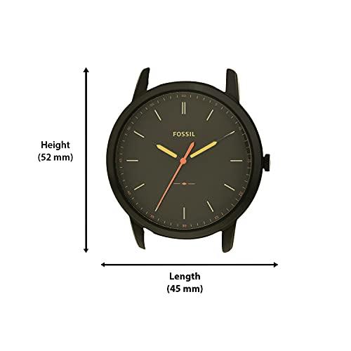Fossil Men's FS5305 The Minimalist Three-Hand Light Brown Leather Watch