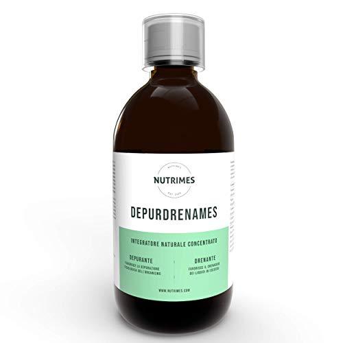 DEPURDRENAMES / Integratore DEPURANTE e DRENANTE da utilizzare per favorire la depurazione dell'organismo e in caso di ritenzione idrica, gonfiore e cellulite/ NUTRIMES