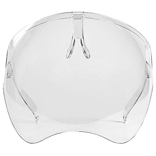 Anti Fogging New Version Safety Face Shield With Glasses - See Through Transparent Clear Face Mask Fashion Reusable Adjustable Shield Protective Face Shield, Full Face Shield Protects Eyes Nose Mouth