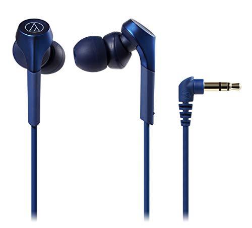 audio-technica SOLID BASS カナル型イヤホン 重低音 ハイレゾ音源対応 ブルー ATH-CKS550X BL