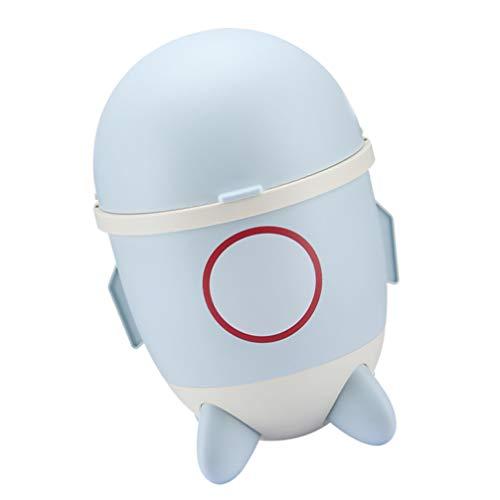 Tomaibaby Cubo de Basura Cubo de Basura en Forma de Cohete Contenedor de Basura para Cocina Baño Dormitorio Sala de Estar Almacenamiento de Basura (Color Aleatorio)