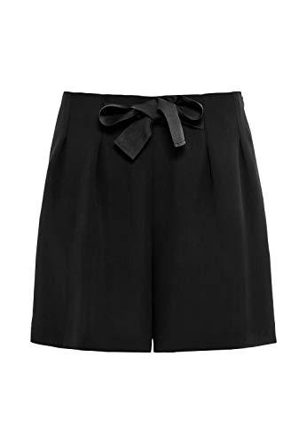 HALLHUBER Taillenshorts mit Schleife weit geschnitten schwarz, 42