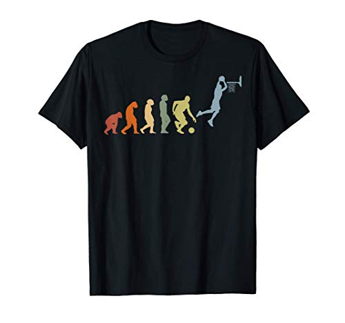 Baloncesto Pelota de baloncesto retro Evolución Basketball Camiseta