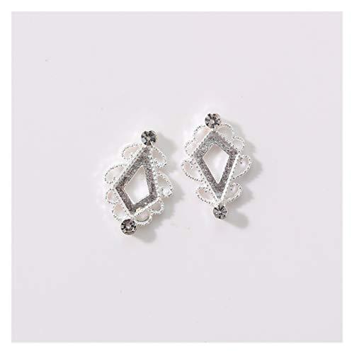 XIAOFANG 100 unids Diamante Piezas 3 Colores Charms de Metal Metal Deco Charms Nail Art Zircon Hollow out Decorations Nail Art Metal Jewelry, (Color : 568)